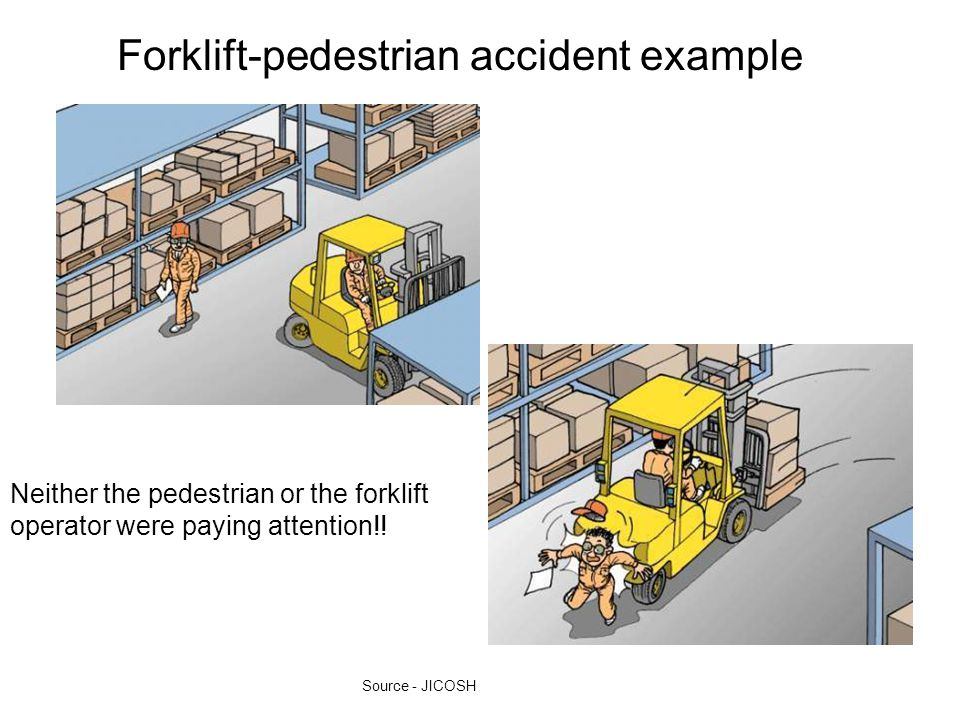Forklift-pedestrian accident example