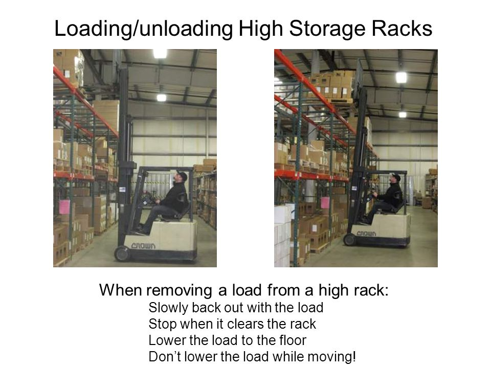 Loading/unloading High Storage Racks