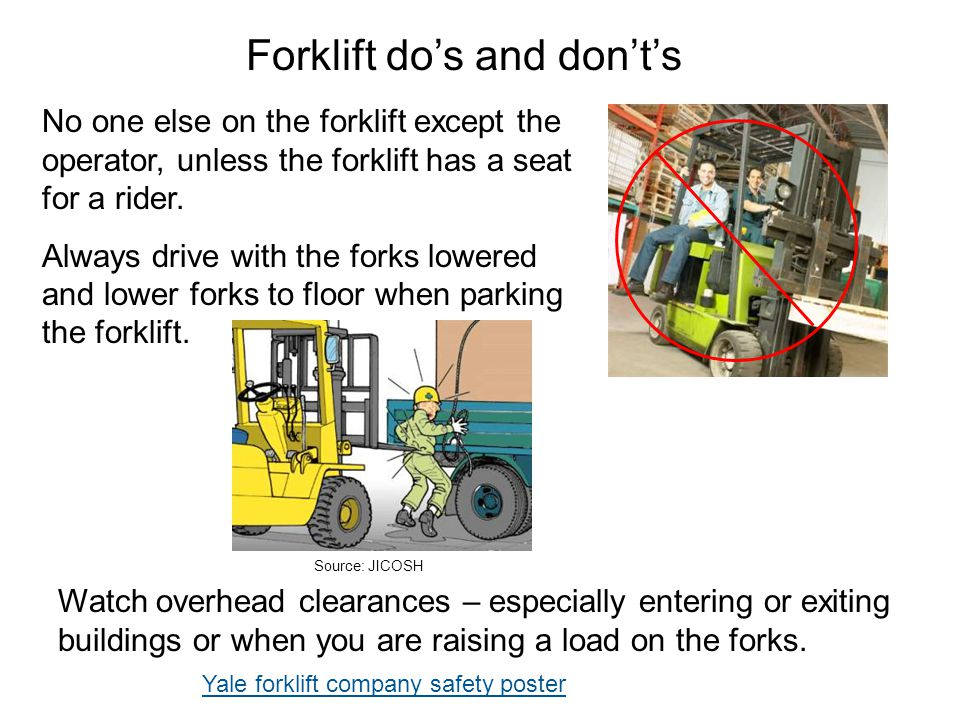 Forklift do's and don't's
