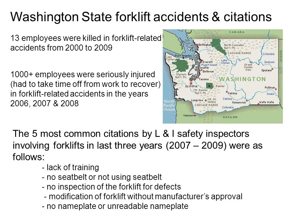 Washington State forklift accidents & citations