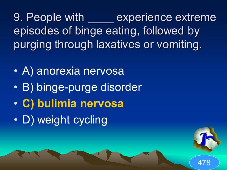 B) binge-purge disorder C) bulimia nervosa D) weight cycling