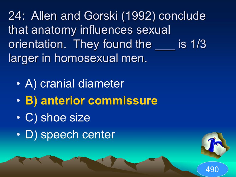B) anterior commissure C) shoe size D) speech center