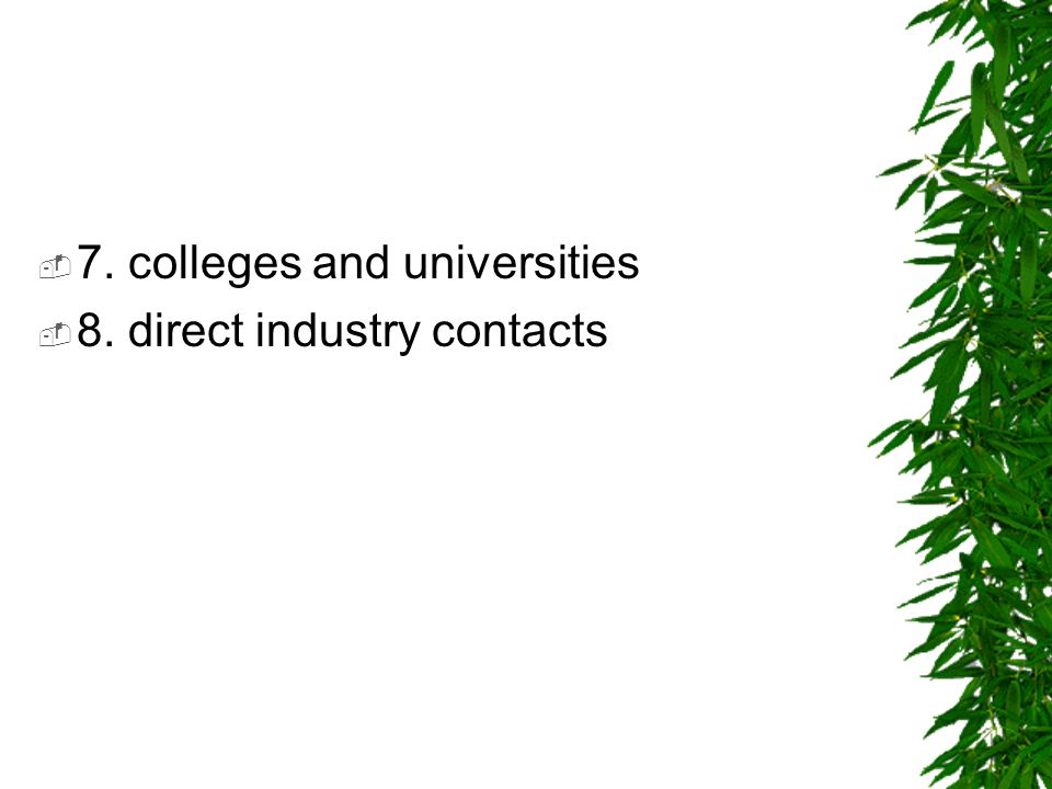 7. colleges and universities