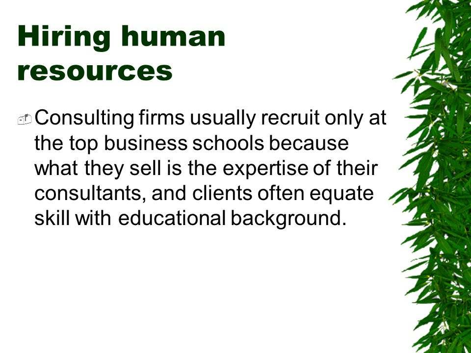 Hiring human resources
