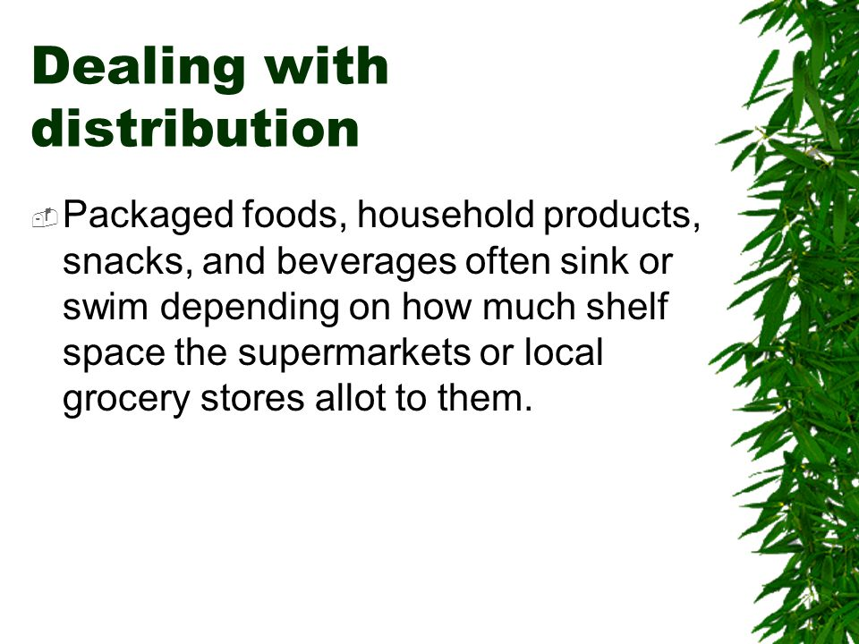 Dealing with distribution