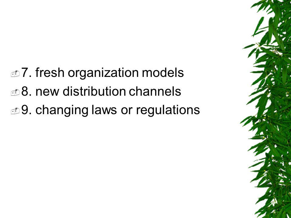 7. fresh organization models