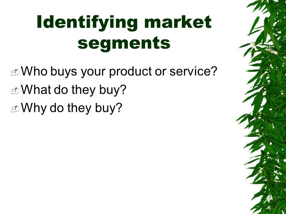 Identifying market segments