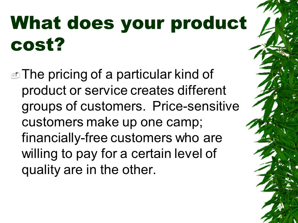 What does your product cost