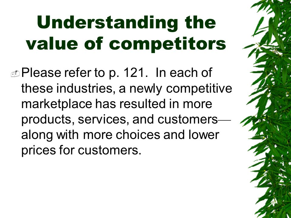 Understanding the value of competitors