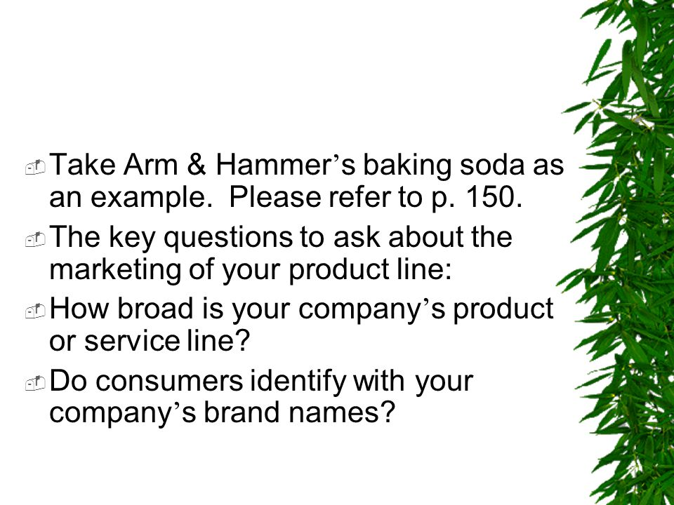 Take Arm & Hammer's baking soda as an example. Please refer to p. 150.