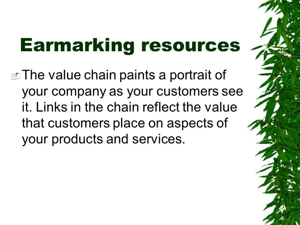 Earmarking resources