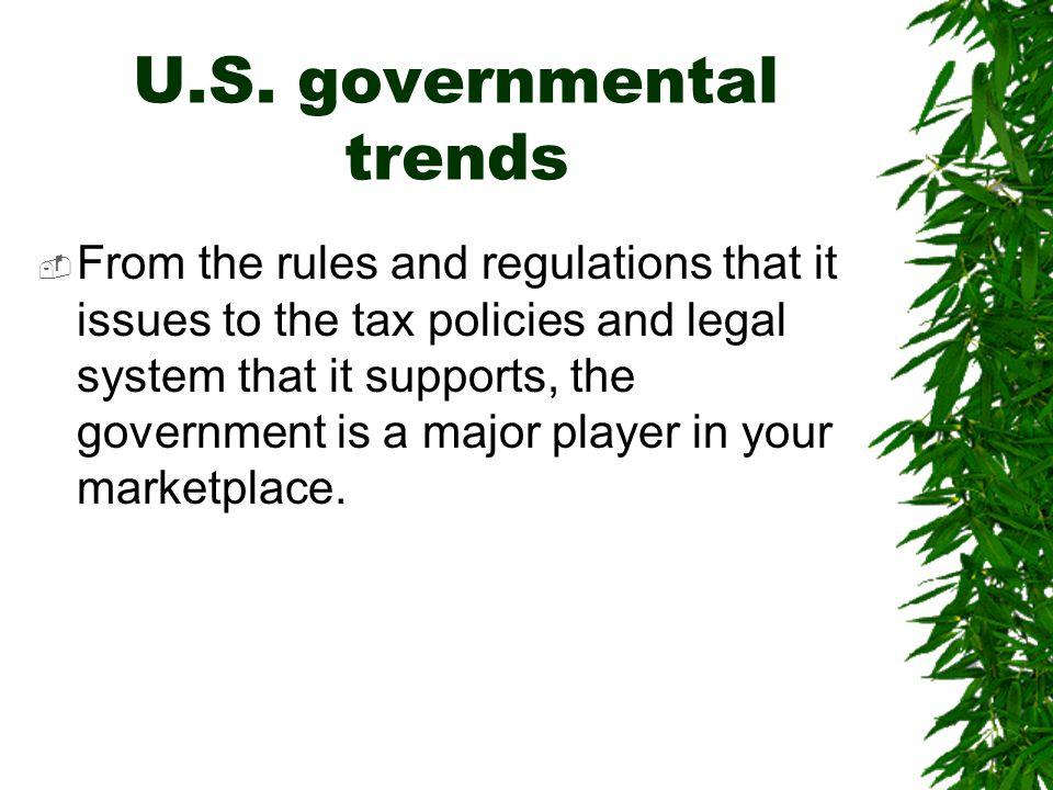 U.S. governmental trends