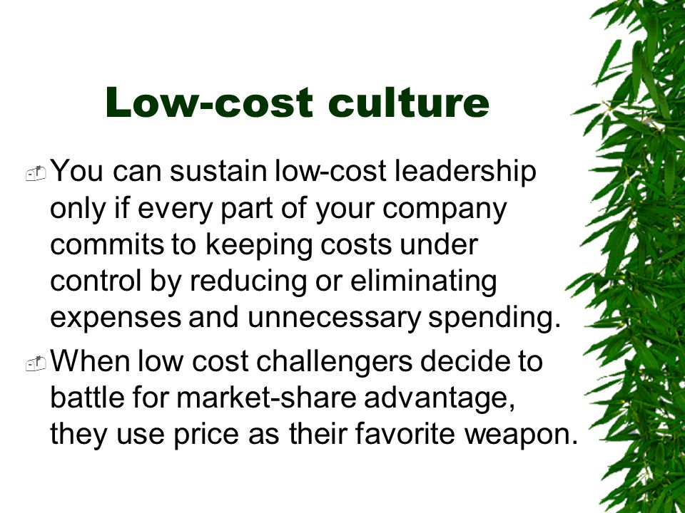Low-cost culture