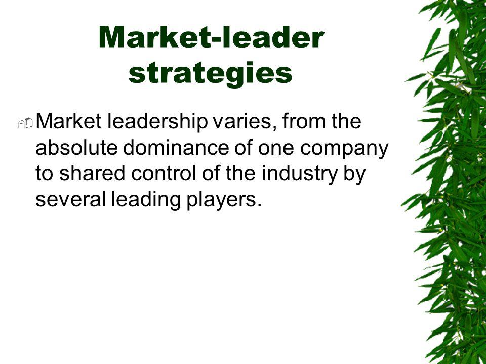 Market-leader strategies