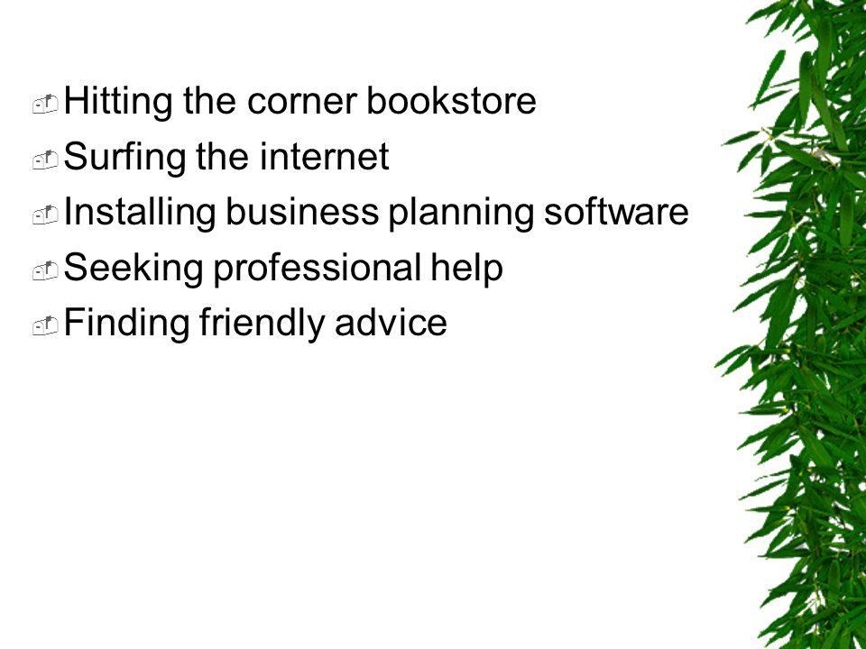 Hitting the corner bookstore