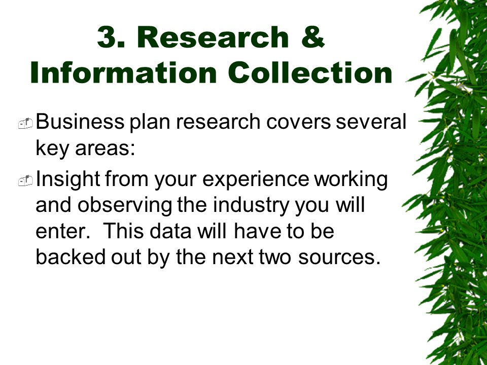 3. Research & Information Collection