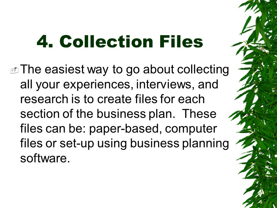 4. Collection Files