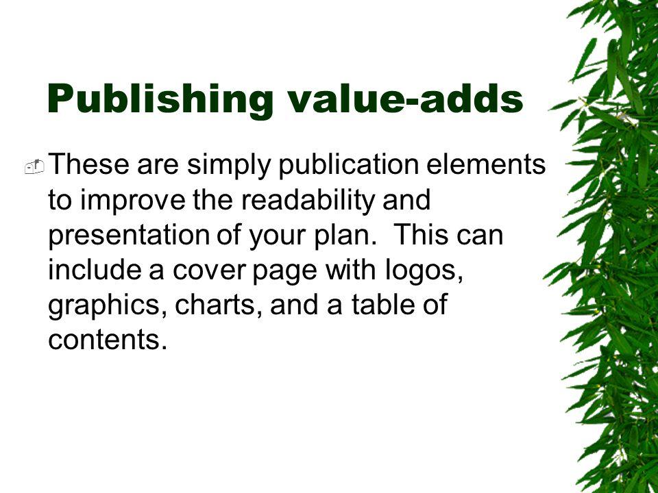 Publishing value-adds
