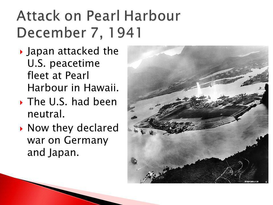 Attack on Pearl Harbour December 7, 1941