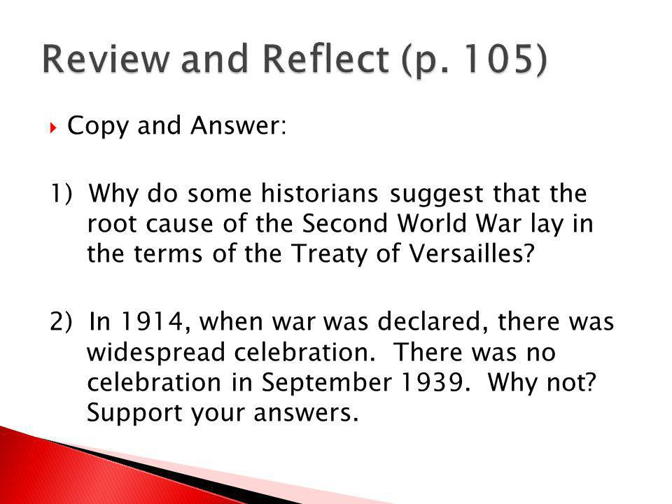 Review and Reflect (p. 105) Copy and Answer:
