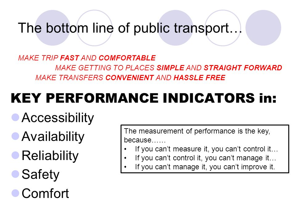 The bottom line of public transport…