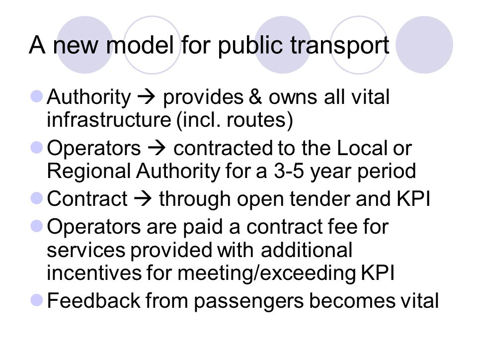 A new model for public transport