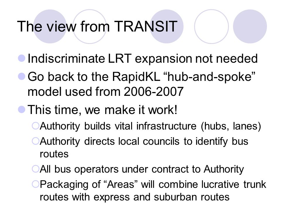 The view from TRANSIT Indiscriminate LRT expansion not needed