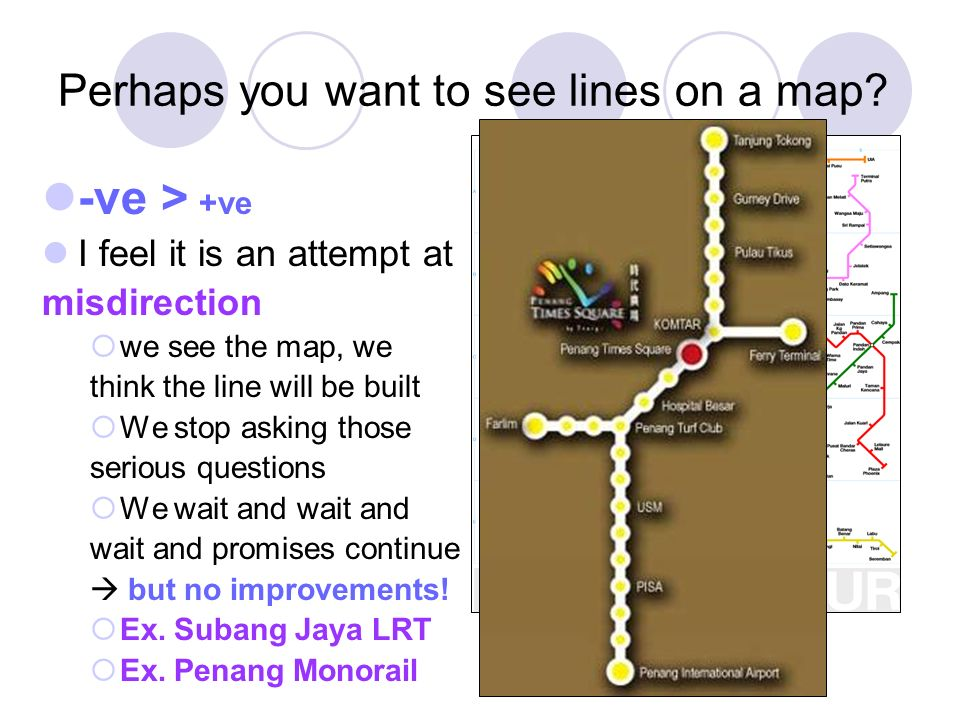 Perhaps you want to see lines on a map