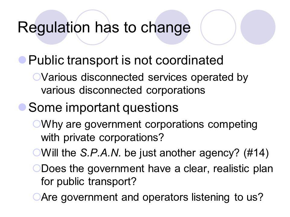 Regulation has to change