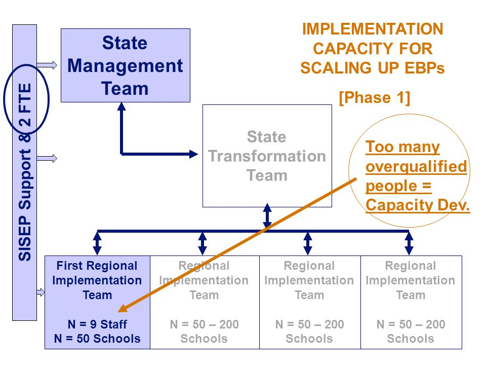 IMPLEMENTATION CAPACITY FOR SCALING UP EBPs