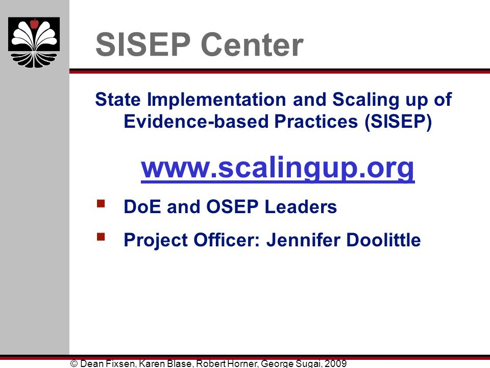SISEP Center www.scalingup.org