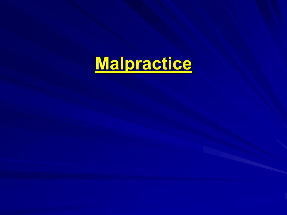 Malpractice How would malpractice change under NHI.