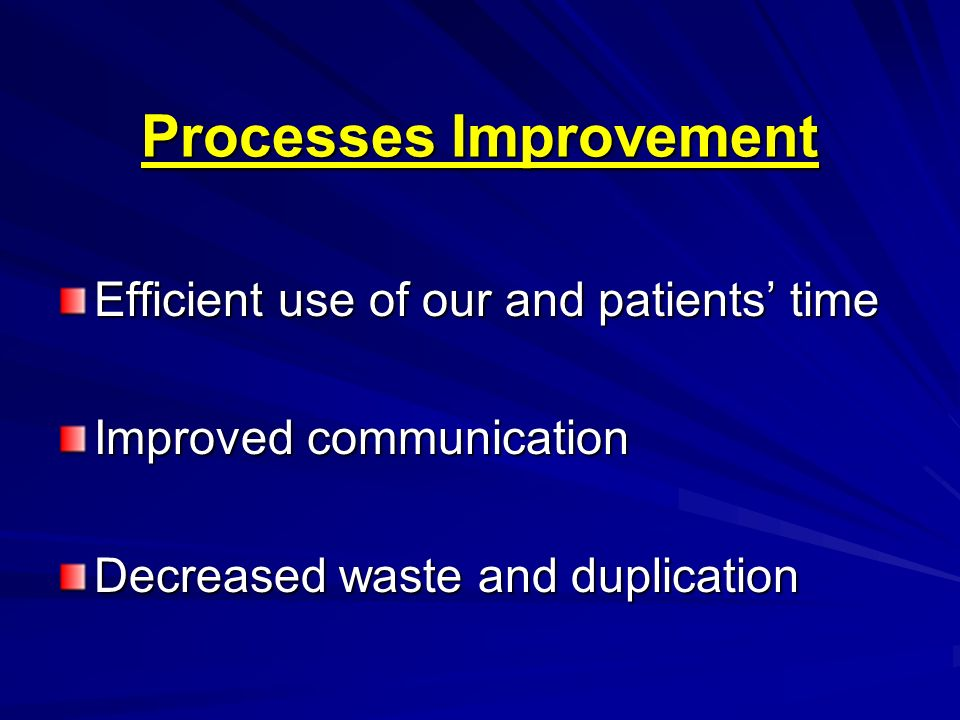 Processes Improvement