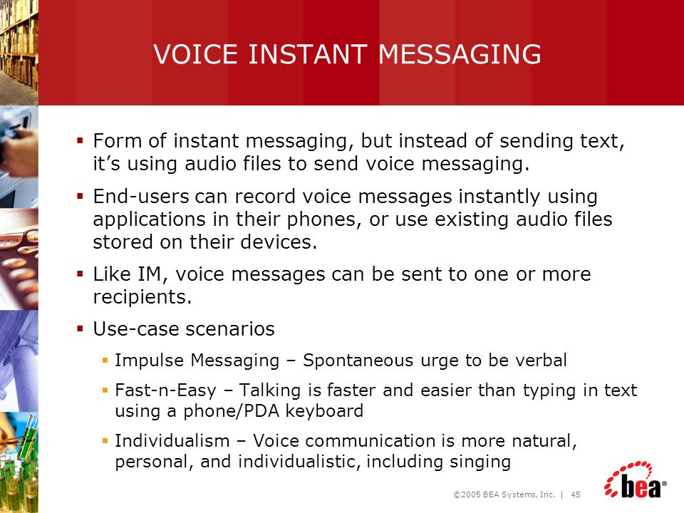 VOICE INSTANT MESSAGING