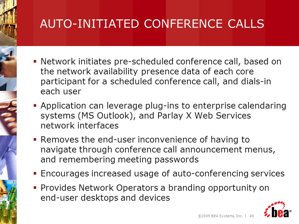 AUTO-INITIATED CONFERENCE CALLS