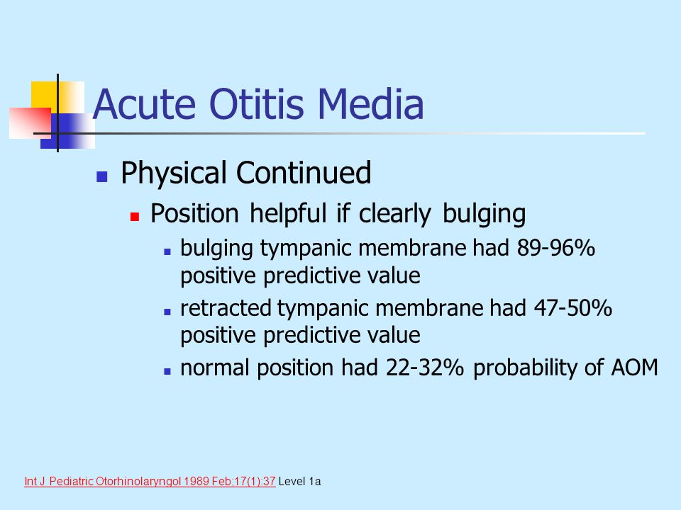 Acute Otitis Media Physical Continued