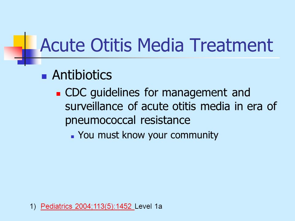 Acute Otitis Media Treatment