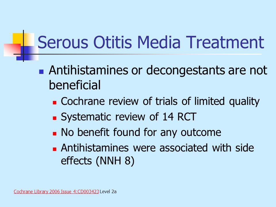 Serous Otitis Media Treatment