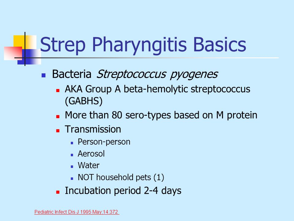 Strep Pharyngitis Basics