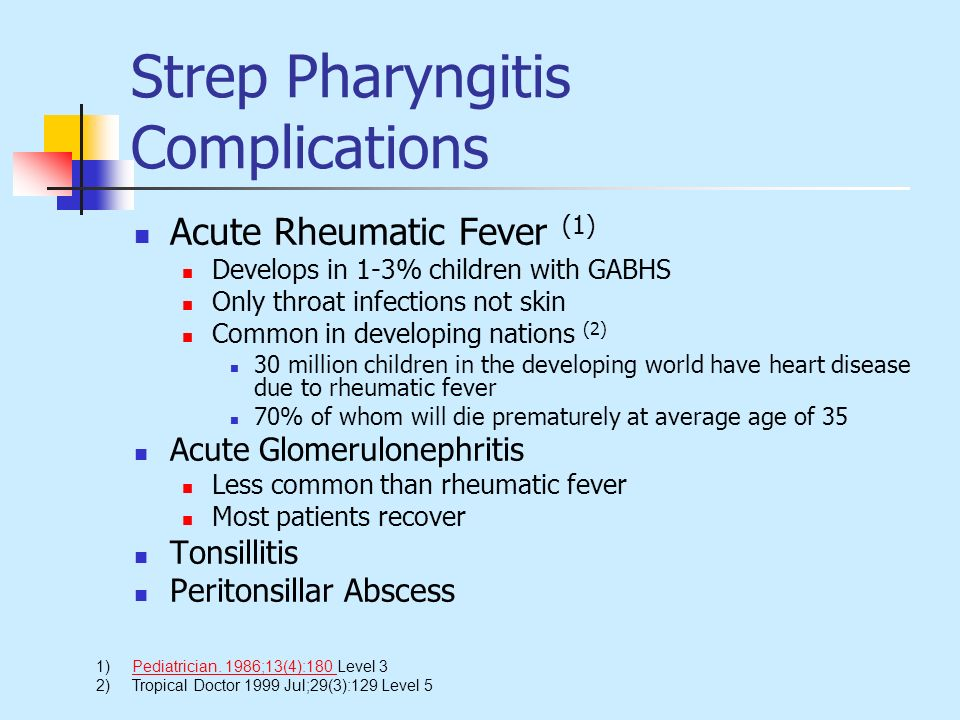 Strep Pharyngitis Complications