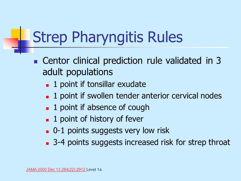 Strep Pharyngitis Rules