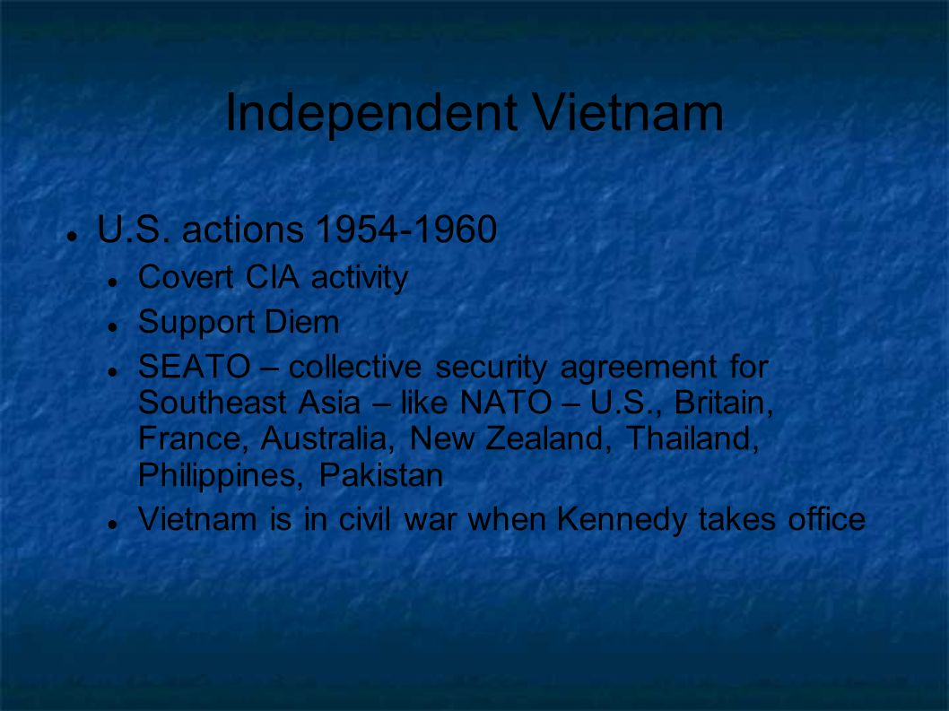 Independent Vietnam U.S. actions 1954-1960 Covert CIA activity