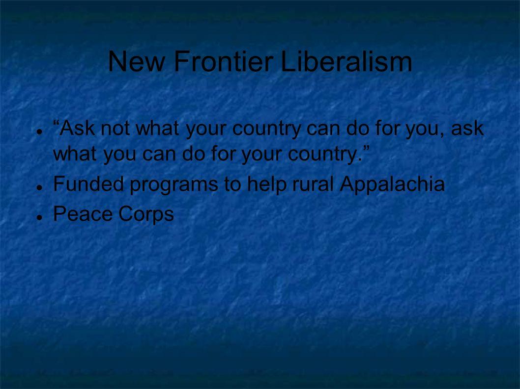 New Frontier Liberalism