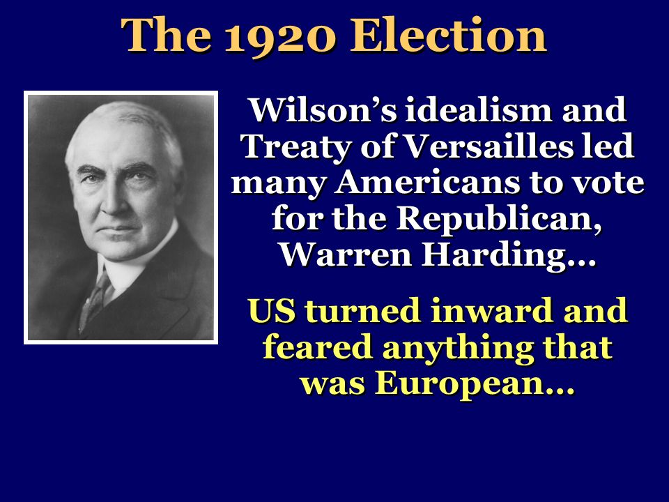 US turned inward and feared anything that was European…