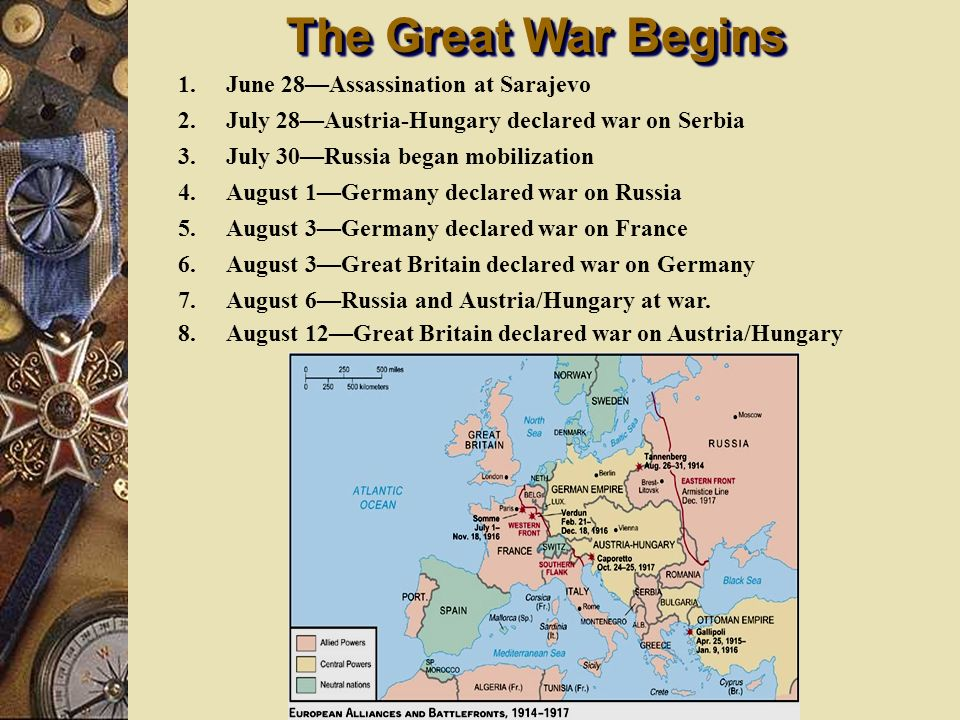 The Great War Begins June 28—Assassination at Sarajevo