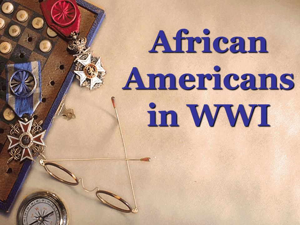African Americans in WWI