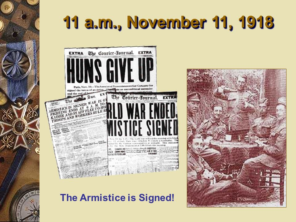 The Armistice is Signed!