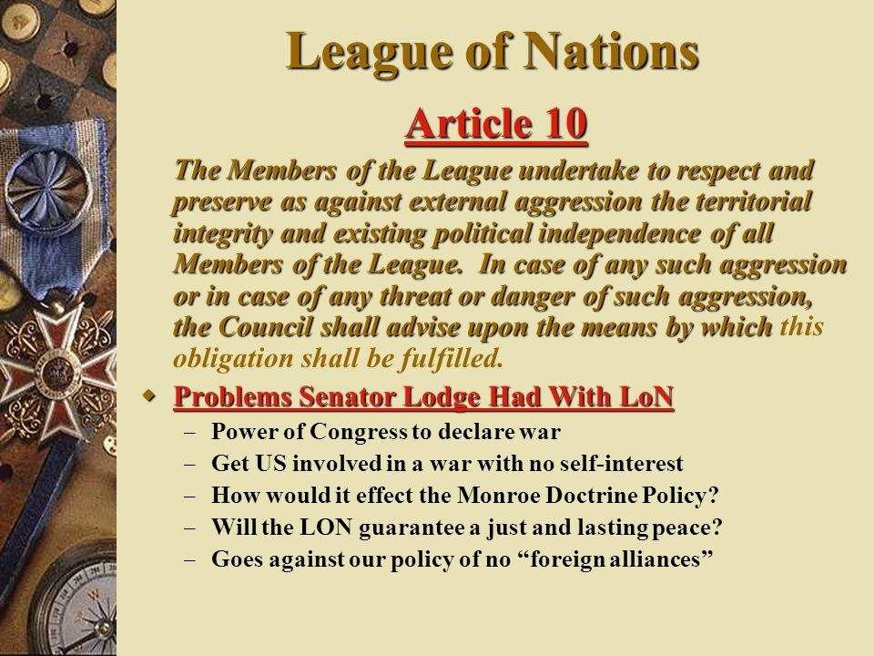 League of Nations Article 10