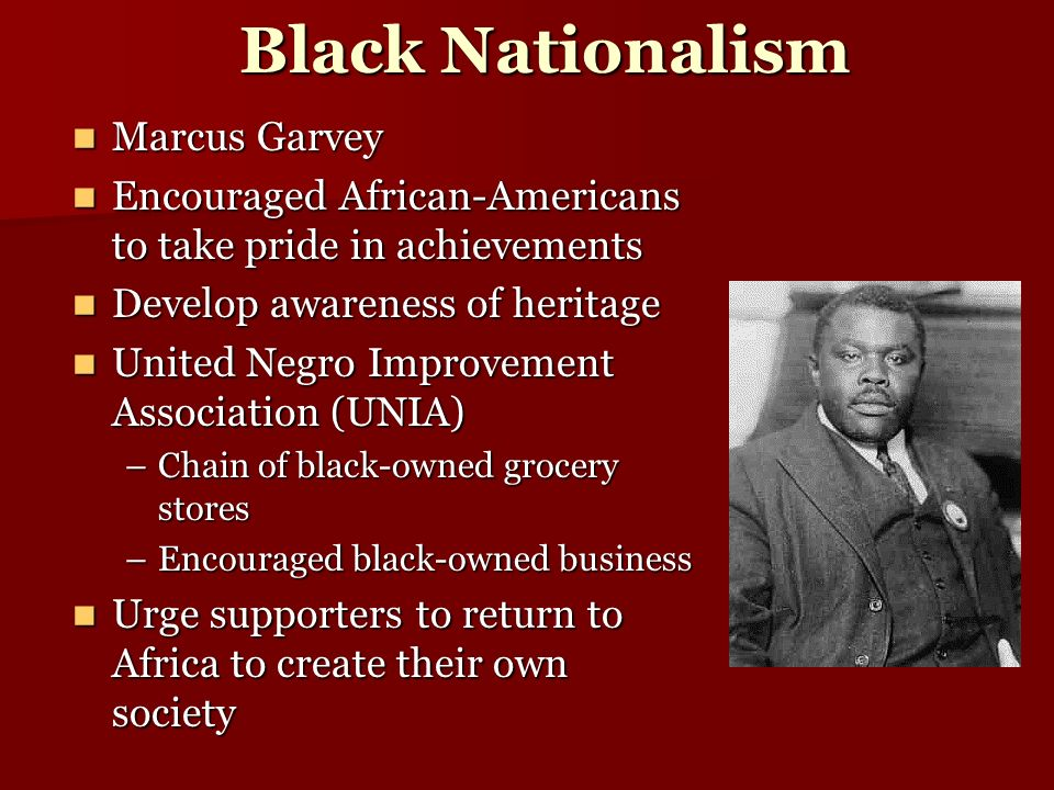 Black Nationalism Marcus Garvey