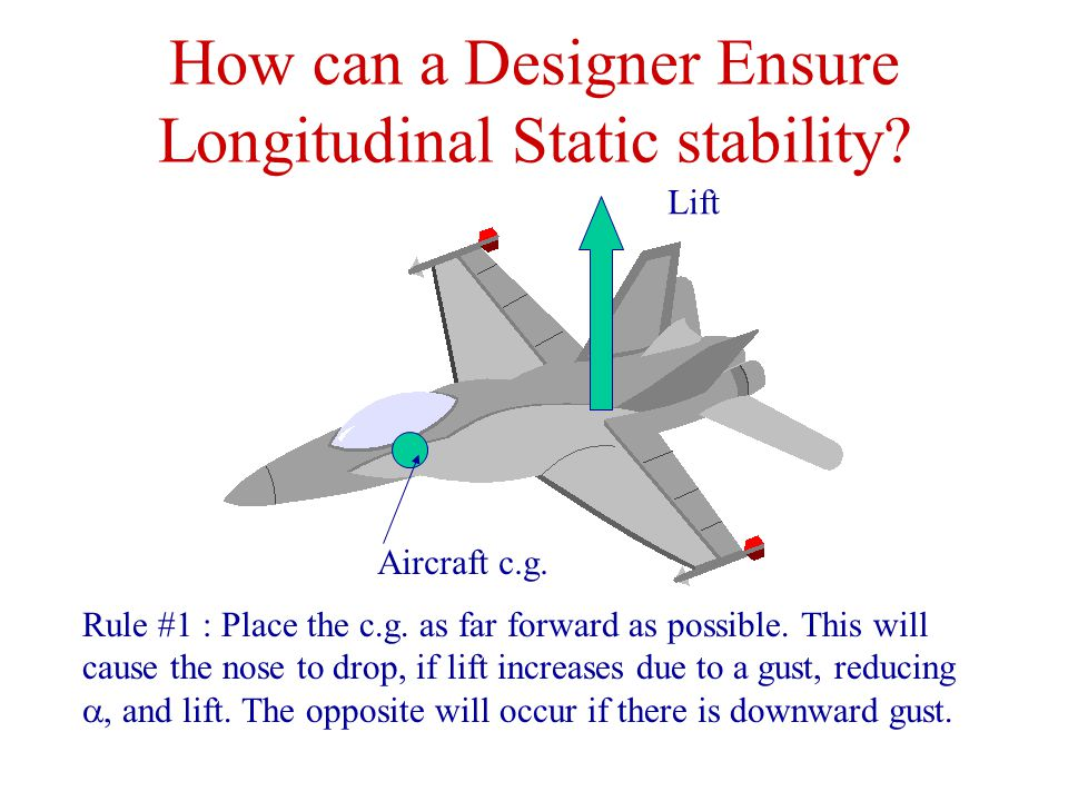 How can a Designer Ensure Longitudinal Static stability